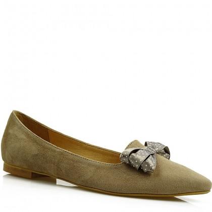 Baleriny damskie, slippersy 7890 BEZ