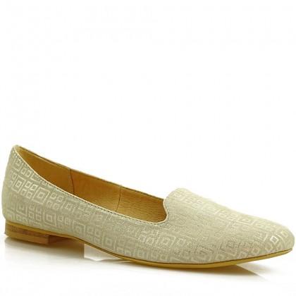 Baleriny damskie slippersy 7681 BLK